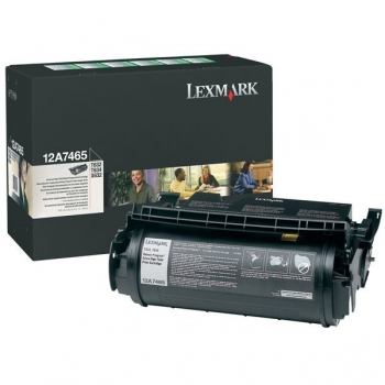Cartus Toner Lexmark 12A7465 Black Extra High Yield Return Program 32000 pagini for Optra T632, T634, X632