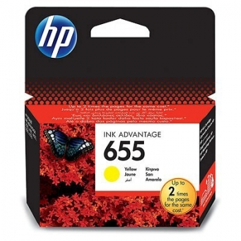 Cartus Cerneala HP Nr. 655 Yellow 600 pagini for Deskjet Ink Advantage 3525, 4615, 4625, 5525, 6525 CZ112AE