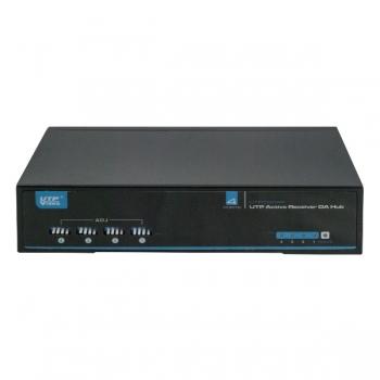 Receptor video activ UTP104AR pentru 4 canale, folosit in retele CCTV cu transmisie prin cablu UTP