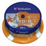Verbatim DVD-R 43538 16X 4.7GB INKJET 25/cake