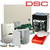 Kit DSC KIT 585-INT 1 x centrala PC585 (tastatura inclusa), 1 x transformator TC20/16, 1 x acumulator PL-5AH, 1 x detector LC100PCI cu suport original LC-MBS, 1 x sirena de interior cu flash LD95, 1 x contact magnetic aparent MC-06W