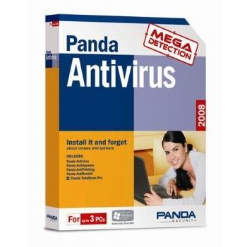 Panda Antivirus 2008 3 PCs 1 an Retail B12L08MB