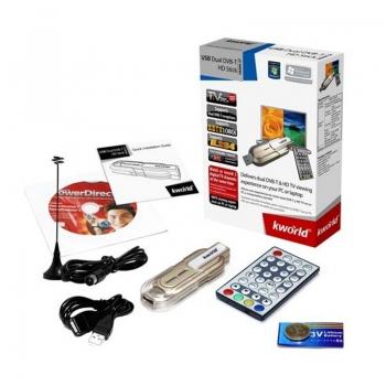 TV Tuner Extern Kworld UB499-2T Dual DVB-T USB