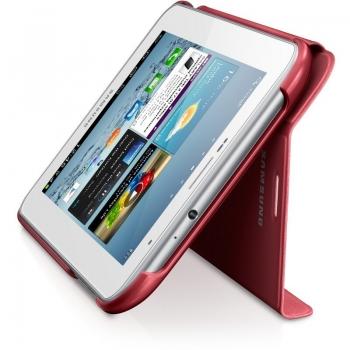 "Husa tableta Samsung EFC-1G5SRECSTD Red piele compatibila cu Galaxy TAB 2 7"" cu functie de stand"