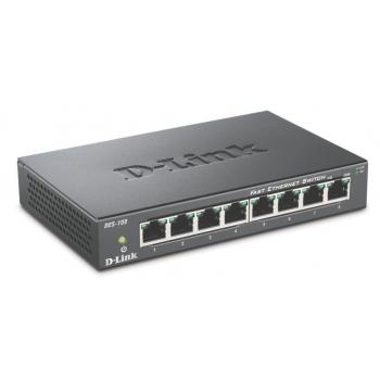 Switch D-Link DES-108 8xRJ-45 10/100Mbps