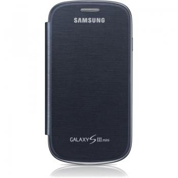 Husa Samsung Flip Cover pentru i8190 Galaxy S III Mini Pebble Blue EFC-1M7FBEGSTD