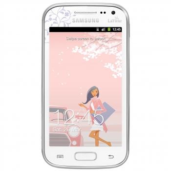 Telefon Mobil Samsung Galaxy Ace 2 i8160 White La Fleur Dual Core 800MHz 4GB Android 2.3 SAMI8160WLF