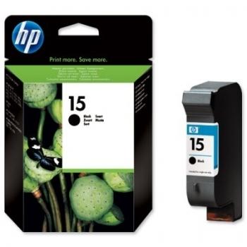 Cartus Cerneala HP Nr. 15 Large Black 25 ml for Deskjet 810C, Deskjet 812C, PSC 500, Deskjet 825C, Deskjet 840C, Deskjet 842C, Deskjet 845C, Color Copier 310, Deskjet 3820, Deskjet 920C, Deskjet 940C, OfficeJet 5110, OfficeJet V40, PSC 750, PSC 760, PSC 9