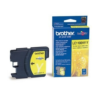 Cartus Cerneala Brother LC1100HYY Yellow capacitate 750 pagini for Brother DCP-6690CW, MFC-5895CW, MFC-6490CW, MFC-6890CDW