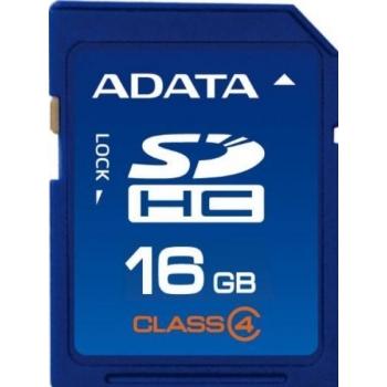 Card Memorie SDHC ADATA 16GB Clasa 4 ASDH16GCL4-R