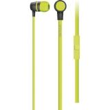 Casti cu microfon Serioux, in-ear, buton on/off, frecventa 18-20KHz, sensitivitate 116dB, impedanta 32Ohm, cablu 1.2m, jack 3.5mm, culoare verde lime