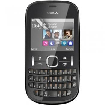 Telefon Mobil Nokia Asha 200 Graphite Dual SIM tastatura qwerty NOK200G