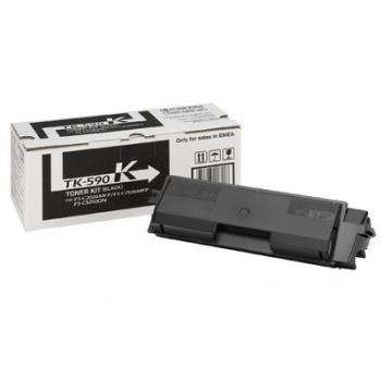 Cartus Toner Kyocera TK-590K Black 7000 Pagini for FS-C2016MFP, FS-C2026MFP, FS-C2126MFP, FS-C5250DN