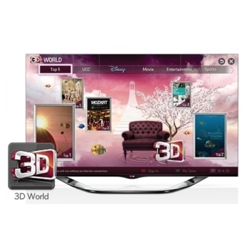 LED, 152 cm, FullHD 1920x1080, Tuner DVB-T/C/S2, MCI 800, Micro Pixel ControL, Cinema 3D, conversie 2D - 3D, 3D Depth ControL, Dual Play Ready, Triple XD Engine, Resolution Upscaler, Smart Color Gradation, MHL, Simplink (HDMI C