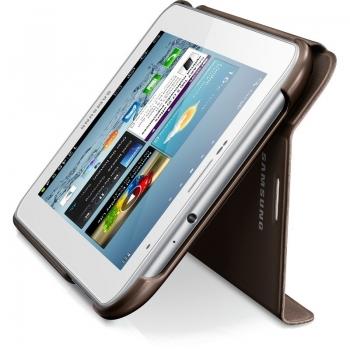 "Husa tableta Samsung EFC-1G5SAECSTD Amber Brown compatibila cu Galaxy TAB 2 7"" Cu functie de stand"