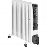 Calorifer electric cu ulei Heinner HOH-YV13BK, 2500 W, 13 elementi, ventilator 400W, protectie supraincalzire, termostat reglabil, alb