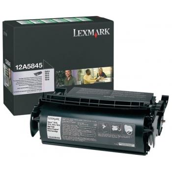 Cartus Toner Lexmark 12A5845 Black Return Program High Capacity 25000 pagini for T610, T612, T614, T616