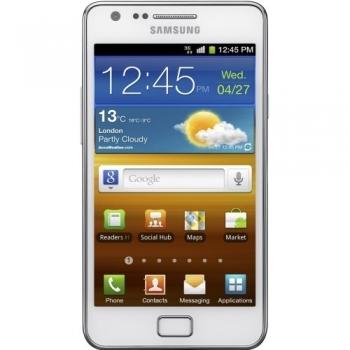 Telefon Mobil Samsung Galaxy S2 i9100 Ceramic White Cortex A9 Dual Core 1.2GHz 16GB Android 2.3 Gorilla Glass Super AMOLED Plus SAMI9100WHT
