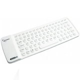 Mini Tastatura Gembird KB-BTF1-W-US Bluetooth Flexible White Compatibila cu Dispozitive