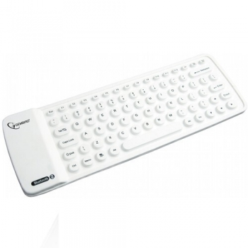 Mini Tastatura Gembird KB-BTF1-W-US Bluetooth Flexible White Compatibila cu Dispozitive