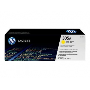 Cartus Toner HP Nr. 305A Yellow 2600 Pagini for LaserJet Pro 300 M375NW, 400 M475DN, 300 M351A, 400 M451DN CE412A
