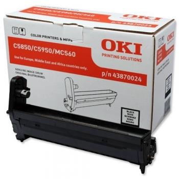 Unitate CIlindru Oki 43870024 Black 20000 Pagini for C5850N, C5950N, MC 560N, MC560DN