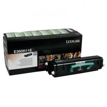 Cartus Toner Lexmark E360H11E Black Return Program 9000 pagini for E360D, E360DN, E460DN, E460DW, E462DTN
