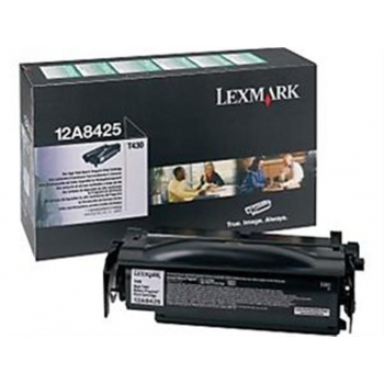 Cartus Toner Lexmark 12A8425 Black High Yield Return Program 12000 pagini for Optra T430