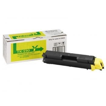 Cartus Toner Kyocera TK-590Y Yellow 5000 Pagini for FS-C2016MFP, FS-C2026MFP, FS-C2126MFP, FS-C5250DN