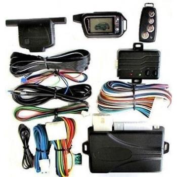 Alarma auto CL6900 cu pornire motor din telecomanda/pager Cod saritor, antiscanare, anticarjack, sirena,Senzor soc cu doua praguri reglaj separat,O telecomenda 4 butoane + un pager, toate releele incluse