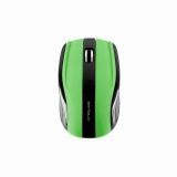 Mouse Serioux, RAINBOW400, fara fir, USB, senzor optic, distanta deoperare; 10m, precizie: 1000/1600DPI ajustabila, 6 butoane, 2x ba terieAAA, sisteme de operare: Windows / Mac OS / Linux, verde