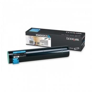 Cartus Toner Lexmark X945X2CG Cyan 22000 pagini for Lexmark X940E, X945E