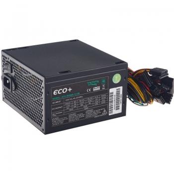 Sursa Eurocase Technology ECO+80 500W 1x PCI-E 3x SATA 3x Molex 1x Floppy PFC Activ Certificare 80+ ATX-500WA-12-80(85)