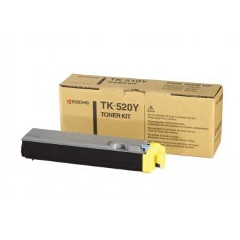 Cartus Toner Kyocera TK-520Y Yellow 4000 Pagini for Kyocera Mita FS-C5015N
