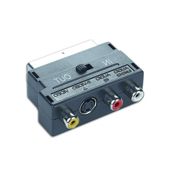 Adaptor Gembird Euroscart - 3xRCA + 1x S-VIDEO CCV-4415