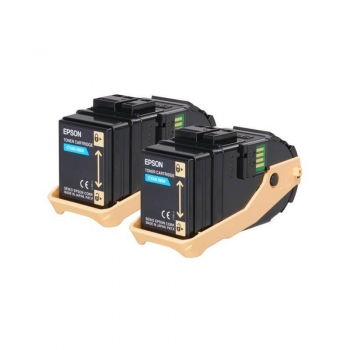 Pachet Cartus Toner Epson C13S050608 Cyan 2 Bucati 2x7500 Pagini for Aculaser C9300D2TN, C9300D3TNC, C9300DN, C9300DTN, C9300N, C9300TN