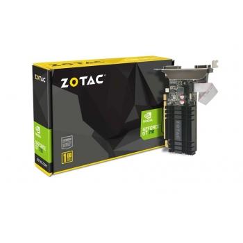 Placa Video Zotac nVidia GeForce GT 710 1GB GDDR3 64 bit PCI-E x16 2.0 DVI HDMI DisplayPort ZT-71301-20L