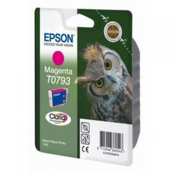 Cartus Cerneala Epson T0793 Magenta 685 pagini for Epson Stylus Photo R1400 C13T07934010