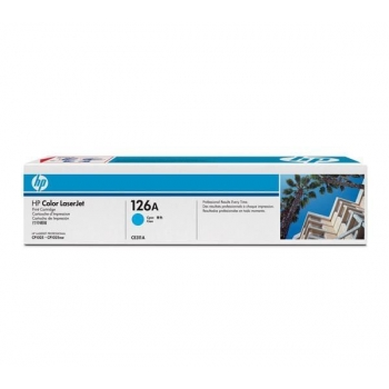Cartus Toner HP Nr. 126A Cyan 1000 Pagini for LaserJet Pro CP1025, LaserJet Pro CP1025NW CE311A