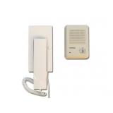 Kit Commax RM201HA Un post de interior tip telefon DP-2HP1 post de exterior din plastic DR-201D 2+2 fire, extensibil cu DP-2HP