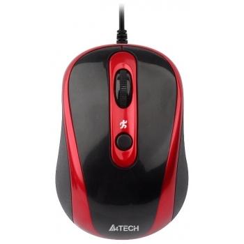 Mouse A4Tech N-250X V-Track 4 Butoane USB Red N-250X-2