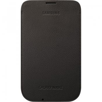 Husa Samsung pentru N7100 Galaxy Note II din piele Maro inchis EFC-1J9LDEGSTD