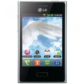"Telefon Mobil LG Optimus L3 E400 White 3.2"" 800 MHz memorie interna 1GB Android v2.3 LGE400WHT"