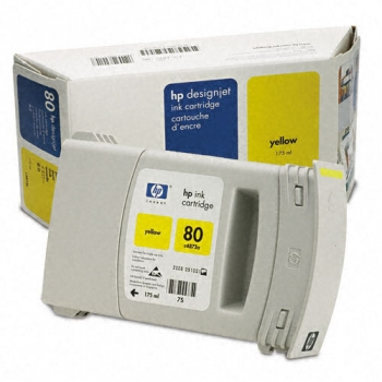 Cartus Cerneala HP Nr. 80 Yellow 175 ml for Designjet 1050, Designjet 1055 C4873A