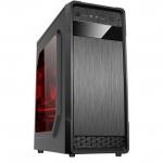Carcasa Middle Tower Floston GRAVITY BLACK Ventilatoare 1x 120mm 1x USB 3.0 2x USB 2.0 2x Jack 3.5mm