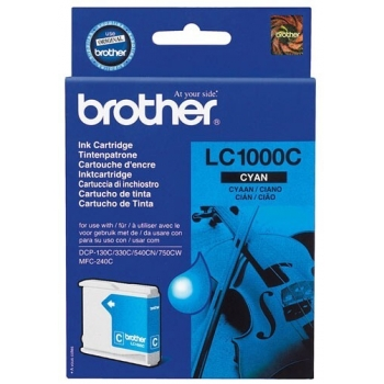 Cartus Cerneala Brother LC1000C Cyan capacitate 400 pagini for Brother MFC 5460CN, DCP-330C, DCP-357C, DCP-560CN, DCP-770CW, MFC-440CN, MFC-465CN