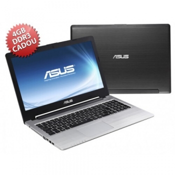 "Laptop Asus K56CB-XX304D Intel Core i5 Ivy Bridge 3317U 1.7GHz 8GB (4GB + 4GB CADOU) DDR3 HDD 1TB nVidia GeForce GT 740M 2GB 15.6"" HD"