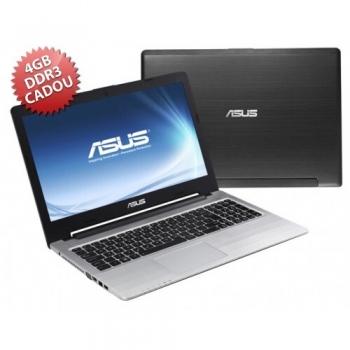 "Laptop Asus K56CB-XX304D Intel Core i5 Ivy Bridge 3317U 1.7GHz 8GB (4GB + 4GB CADOU) DDR3 HDD 1TB nVidia GeForce GT 740M 2GB 15.6"" HD"