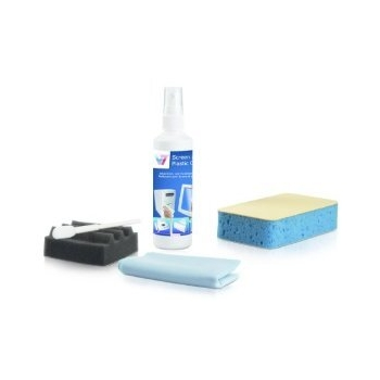 V7 PC cleaning kit / 125 ml Screen and plastic cleaner / 1Tastatur swabs with flexible head / 1 Keyboard Wedge / 1 cleaning sponge w ith two different. Surfaces / 1 dry cloth 18x22 cm