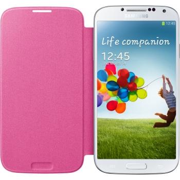 Husa Samsung Flip Cover pentru i9500, I9505 Galaxy S4 Pink EF-FI950BPEGWW